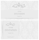 Vector White Floral 3d Background. Template for Christmas and Invitation Cards Royalty Free Stock Photography