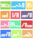 Vector white folder  icon set . Stock Photos
