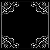 Vector white frame on a black background Royalty Free Stock Images