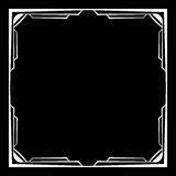 Vector white frame on a black background Royalty Free Stock Photos