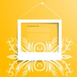 Vector white frames on the yellow wall Royalty Free Stock Photography