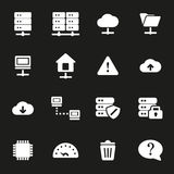Vector white ftp icons set Stock Photos