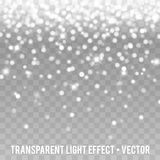 Vector White Glitter Effect transparent Background. Star Dust Sparks. Eps10 Vector Background Royalty Free Stock Photography
