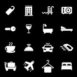 Vector white hotel icons set Stock Image