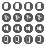 Vector white icons for web and mobile Royalty Free Stock Photos