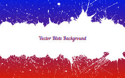 Vector white ink splashes over blue red Royalty Free Stock Photo