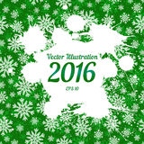 Vector white ink splashes with space for text over green Stock Image
