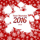 Vector white ink splashes with space for text over red Royalty Free Stock Photos