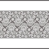 Vector White Lace Borders. Seamless Pattern. Brown Background Royalty Free Stock Photo