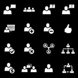 Vector white office people icon set Stock Image