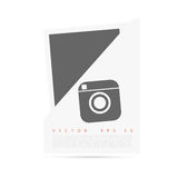 Vector white Origami paper banner for you stock illustration