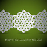Vector white paper christmas snowflakes Stock Photos