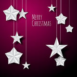 Vector white paper christmas stars Royalty Free Stock Photography