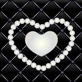 Vector White pearls on the black background Royalty Free Stock Images