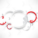 Vector white and red rings background Stock Photos