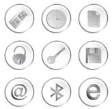 Vector white round web buttons Stock Photography