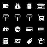 Vector white shop icon set Stock Image