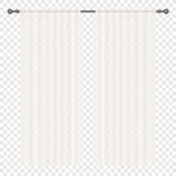 Vector White simple Curtains Isolated on alpha background. Royalty Free Stock Image