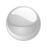Vector white sphere Royalty Free Stock Photos