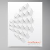 Vector white squares. Abstract backround Stock Photography