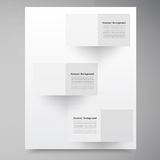 Vector white squares. Abstract backround. This is file of EPS10 format Royalty Free Stock Photo