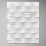 Vector white squares. Abstract backround royalty free illustration