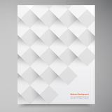 Vector white squares. Abstract backround Stock Photo