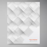 Vector white squares. Abstract backround. This is file of EPS10 format Royalty Free Stock Photos