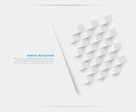 Vector white squares. Abstract backround Stock Photos