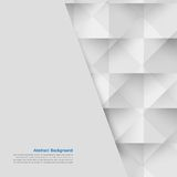 Vector white squares. Abstract backround Royalty Free Stock Photos