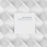 Vector white squares. Abstract backround Royalty Free Stock Image