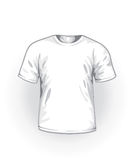 Vector. White t-shirt Royalty Free Stock Photo