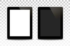 Vector white tablet computer isolated on transparent background. royalty free illustration