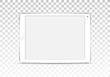 Vector white tablet computer isolated on transparent background. stock illustration