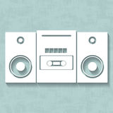 Vector white tape recorder Stock Images