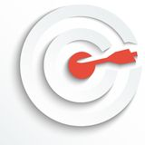 Vector white target. EPS 10 Royalty Free Stock Image