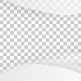 Vector white of wavy banner. Royalty Free Stock Image