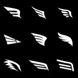 Vector white wing icon set Royalty Free Stock Photography
