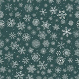 Vector White Winter Snow Flakes Seamless Background Pattern. Sketched Winter Snow Flakes Doodles Seamless Pattern. Hand Drawn Christmas Vector Illustration. New royalty free illustration