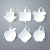 Vector white wobbler set. Stock Photos