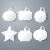 Vector white wobbler set on gray background set. Stock Images