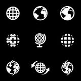 Vector white world map icon set Royalty Free Stock Photo