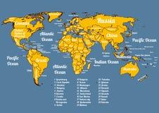 Map Of The Whole World Illustration 12598235 - Megapixl