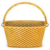 Vector Wicker Basket Stock Image