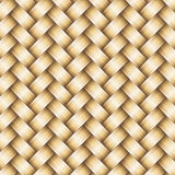 Vector wickerwork golden metallic background Royalty Free Stock Photos