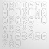 Vector wide outlined font stock illustration
