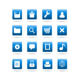 Vector widget desktop icons. Vector glossy icons with widget tools symbols, for desktop or web site use, set features save, settings, home, user, folder, search