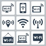 Vector wifi icons set Stock Image