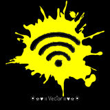 Vector wifi sketch icon for web and mobile. Hand drawn, Illustration EPS10 Royalty Free Stock Images
