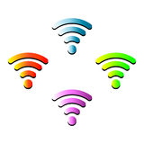 Vector wifi wireless hotspot internet signal Royalty Free Stock Images